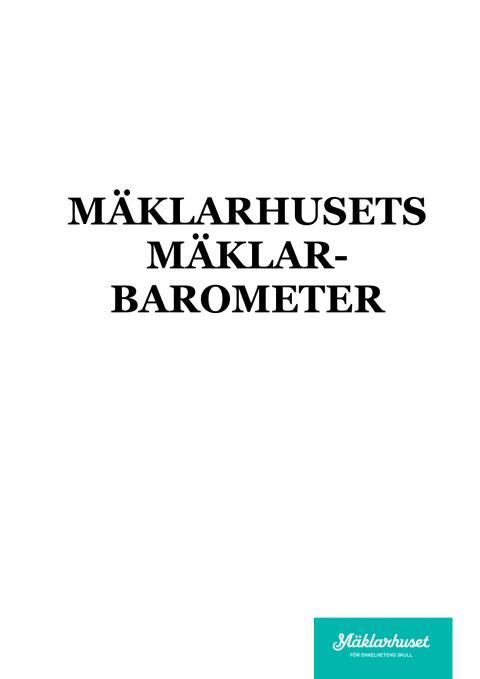 Mäklarhusets Mäklarbarometer