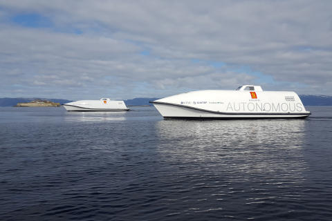 High res image - Kongsberg Maritime - Hull to Hull - Ocean Space Drones 1 and 2