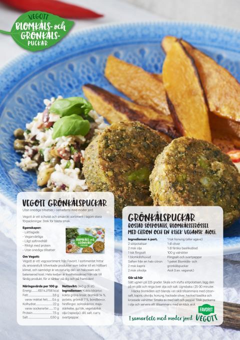 Favorit Vegott recept Grönkålspuckar