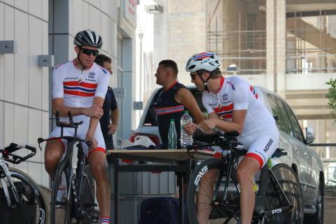 Stake Laengen og Boasson Hagen under sykkel-VM 2016