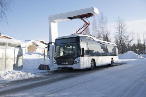 Neue Bus-Ladestation