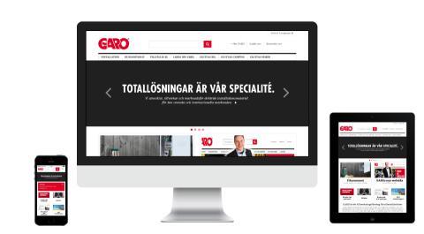 Garo visar upp mobilanpassad produktwebb för B2B