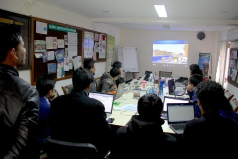 Minecraft-workshop i Nepal