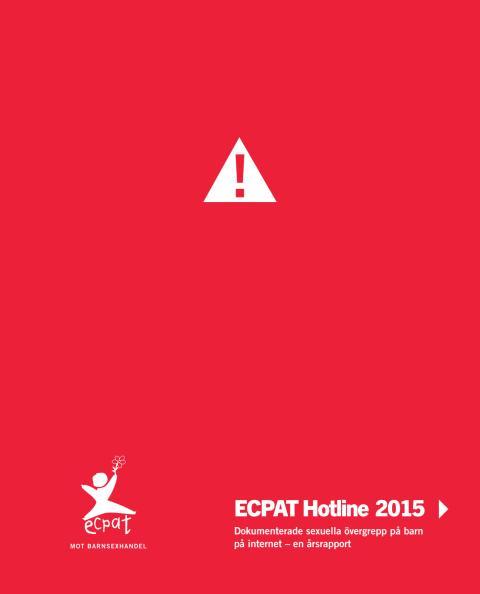ECPAT Hotline rapport 2015