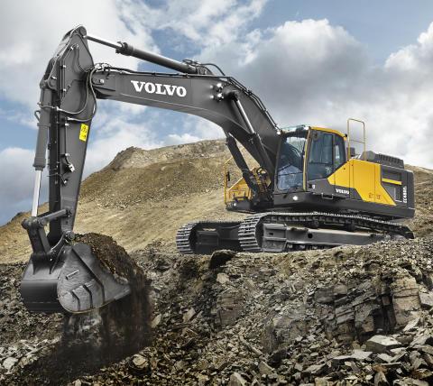 Volvo EC480E sätter standarden för effektiv grävning