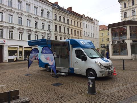 Beratungsmobil der Unabhängigen Patientenberatung kommt am 10. Mai nach Görlitz.