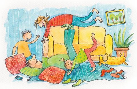 Perheen arki on usein sirkusta