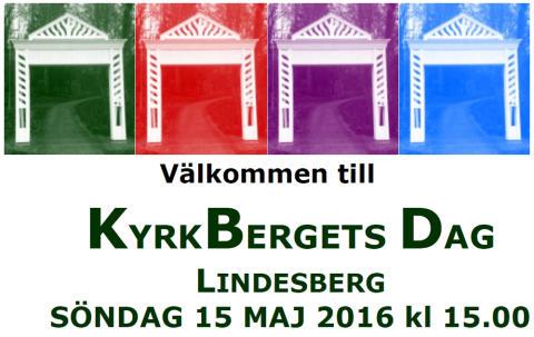 Kyrkbergets dag firas i Lindesberg 15 maj