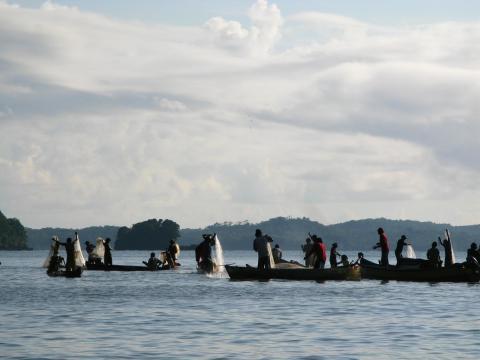 Rama-fiskere i Nicaragua