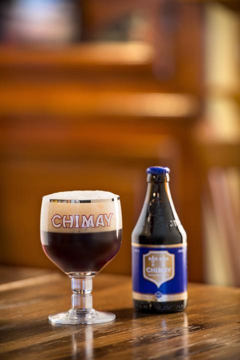 Chimay blå flaska