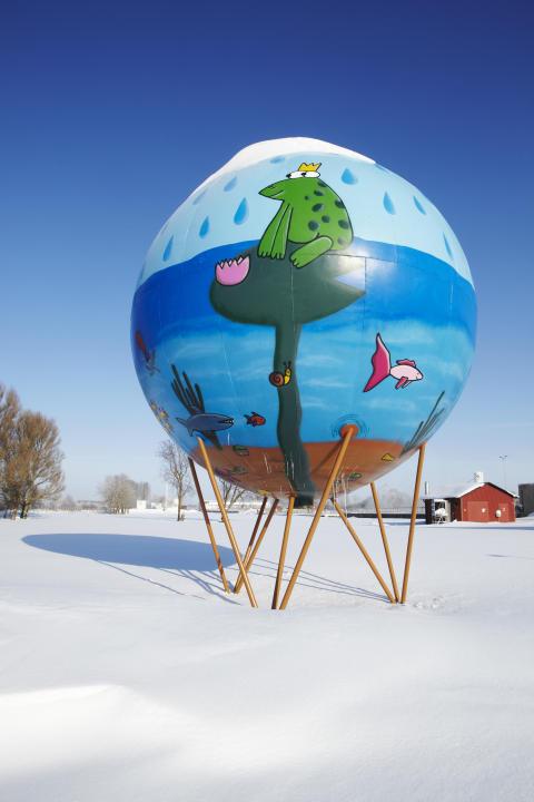 Globen på Ekeby Reningsverk