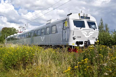 Ombyggda SJ-tåg i Mälardalen