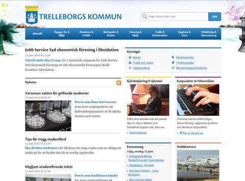 Trelleborgs kommun nya webbplats