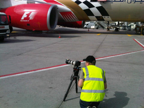 Sizing up a shot at Frankfurt Airport #Cavotecfilm