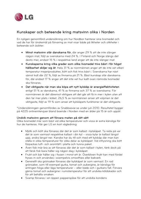 Kunskaper och beteende kring matsvinn olika i Norden