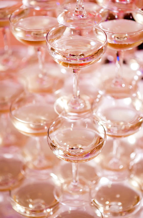 Trendigt med rosa bubblor