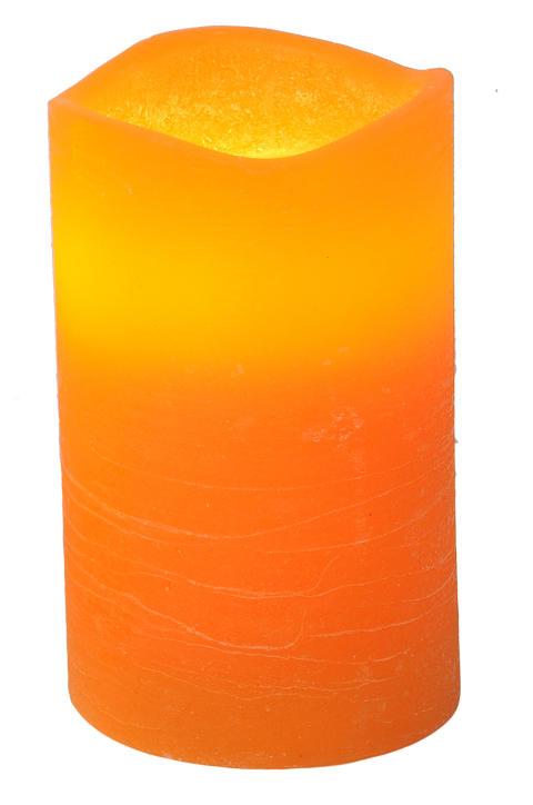 Blockljus Stearin LED orange