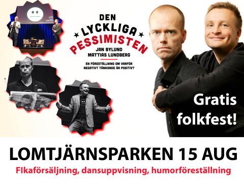 """""""Den Lyckliga Pessimisten"""" -  gratis föreställning i Lomtjärnsparken, Älvsbyn 15 augusti"""