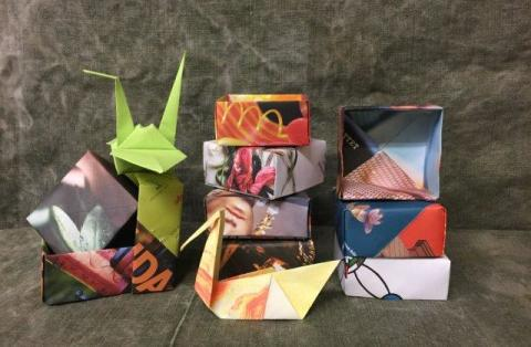 Makerspace för unga på Kulturcentrum 2 februari - Tema Origami