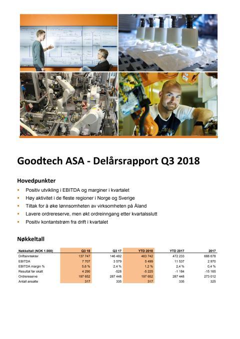 Kvartalsrapport Q3 2018