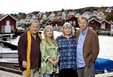 Säsong 4 av Viveca Lärns romansvit om Saltön spelas nu på SVT och delar är inspelad på Gullmarsstrand