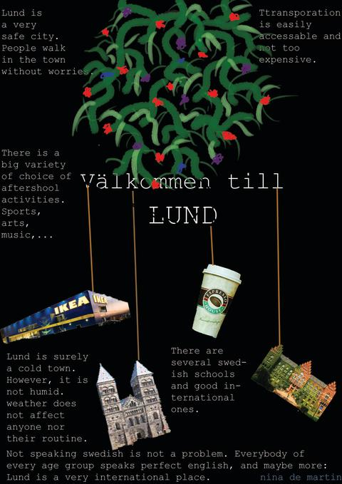 Mitt Lund – en berättelse om en internationell stad, elevaffisch av Nina De Martin