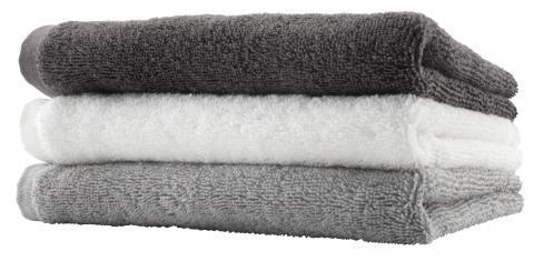 Håndklæde LERKIL 50x100 lys grå (89,95 DKK)