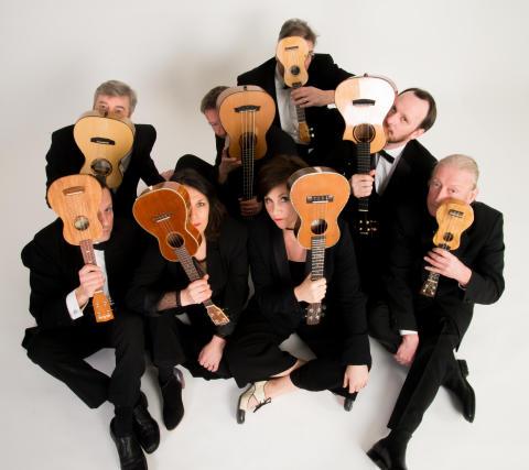 """Internationella, sensationella och omåtligt populära gruppen """"The Ukulele Orchestra of Great Britain"""" till Sverige!"""