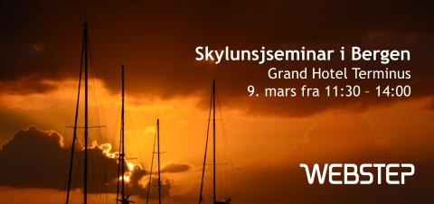 Skylunsj 9.mars i Bergen: Take Off fra skyen - Det er nå det gjelder!