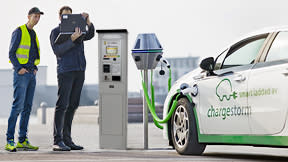 Pay for charging of electric vehicles at your next visit to a parking terminal