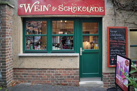 """Die """"Leipziger Liebelei"""" ist exklusiv im Laden """"Wein & Schokolade"""" im Stadtteil Schleußig erhältlich"""