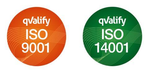 STS ledningssystem för kvalitet och miljö certifierat enligt ISO 9001:15 och 14001:15