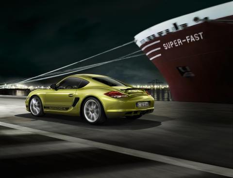 Världspremiär för Porsche Cayman R på Los Angeles Auto Show