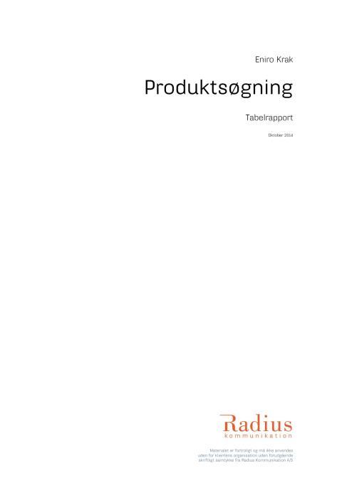 Undersøgelse af danskernes produktsøgning, 2014