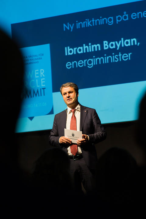 Energiminister Ibrahim Baylan åter till Power Circle Summit
