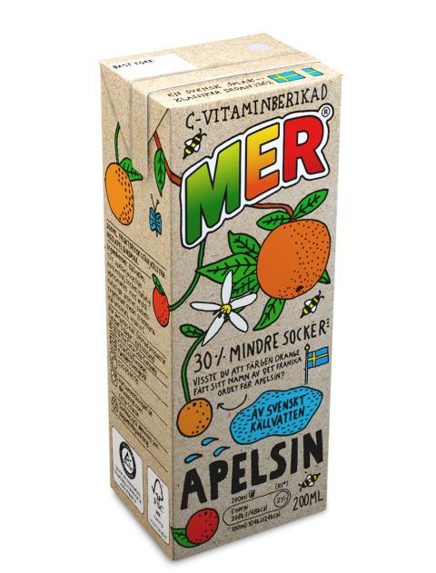 MER sugrör Apelsin