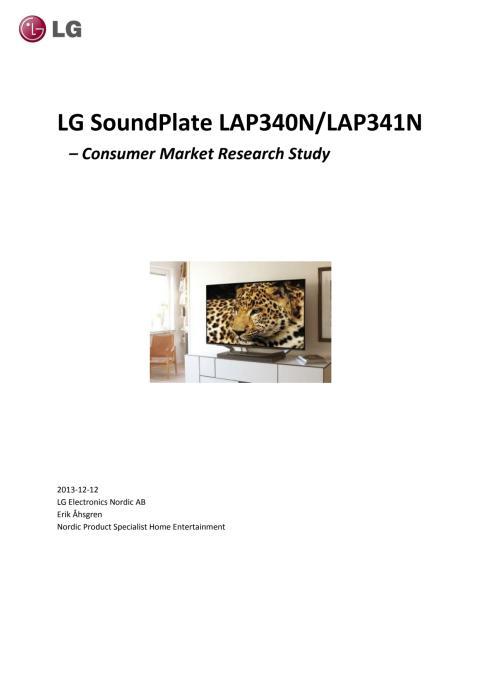 Soundplate Research 2013
