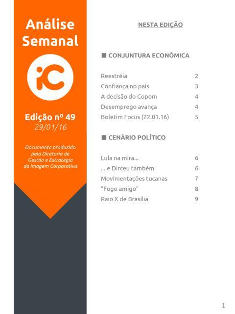 Análise Semanal IC - 29.01.2016