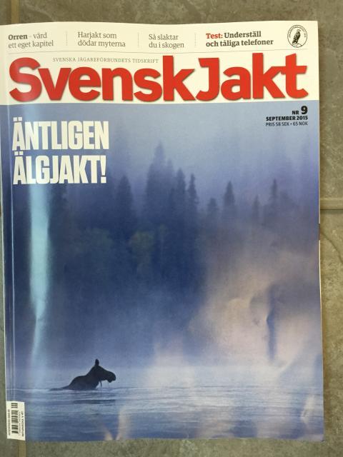 Framsida Svensk Jakt nr 9 2015