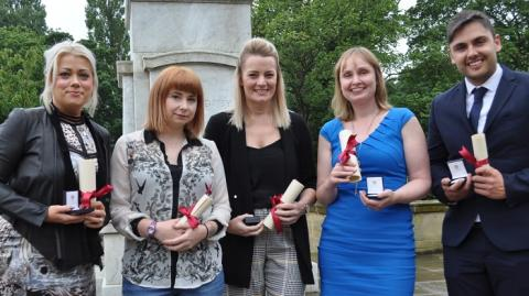 Newly-qualified Northumbria nurses honoured for their dedication to the role