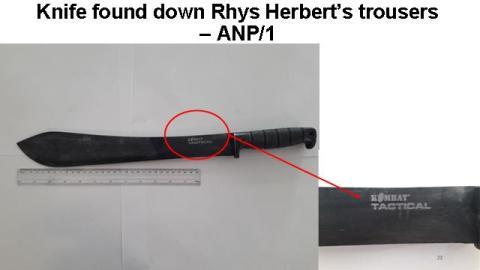 Knife down Herbert's trousers
