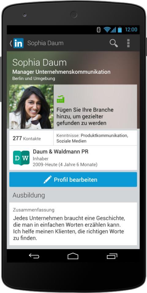 Linkedin optimiert Nutzerprofile für Mobilgeräte: Android