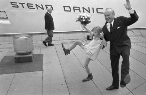 Stena Danica II invigs av Pippi Långstrump och Sten A Olsson år 1969
