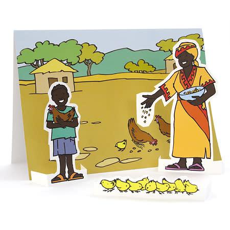 Lägg kycklingar från ActionAid i påskägget
