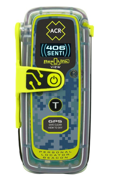 Hi-res image - ACR Electronics - The new ACR Electronics ResQLink View Personal Locator Beacon with Optical Display Technology, with new ResQLink Skin