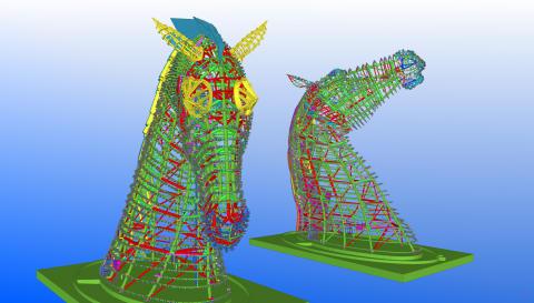 Gigantiska hästskulpturer i stål blir nytt landmärke