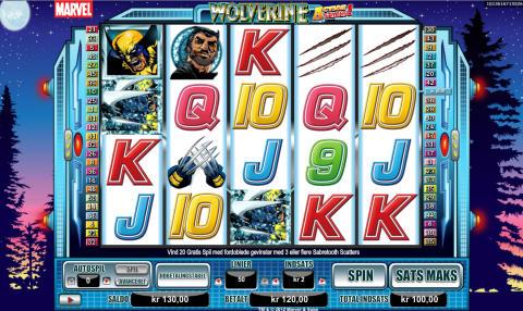 Billede af Wolverine-spilleautomaten