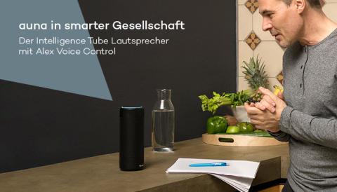 auna in smarter Gesellschaft: Der Intelligence Tube Lautsprecher mit Alexa Voice Control