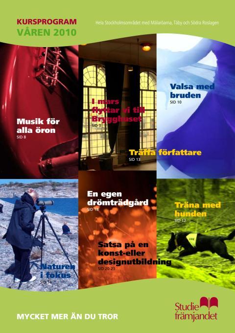 Studiefrämjandet kursprogram vår och sommar 2010 Stockholm