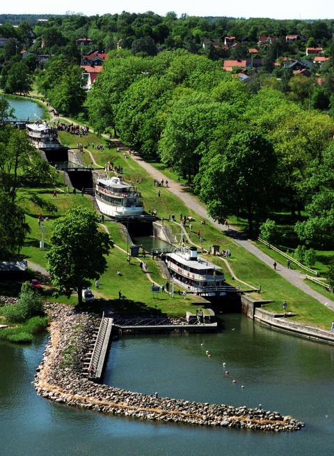 Bergs slussar Göta kanal